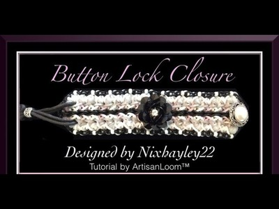 Rainbow Loom Band Button Lock Concept Tutorial.How To
