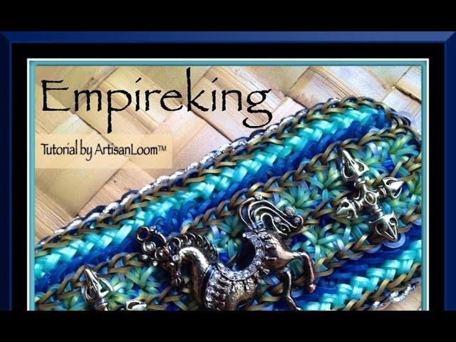 Rainbow Loom Band Empire King Bracelet Tutorial.How To