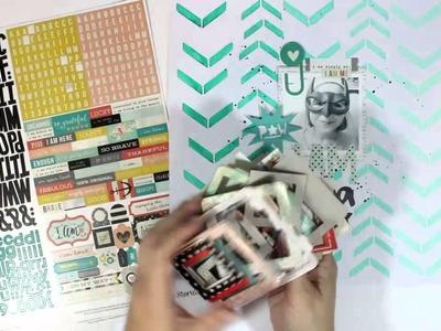 Scrapbook Process Video: The Cut Shoppe - I Am Supa Fly