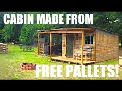 This Tiny House.Cabin was made from FREE Pallets!