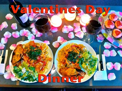 Valentines Day Dinner for Two- Seafood Fettucini