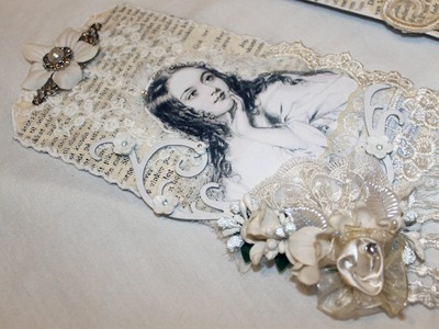 Vintage Shabby Chic Tags - Start to Finish Video - DT Project for Shabbylishious