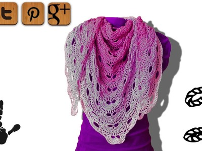 Virus shawl lefty crochet tutorial part 2 - © Woolpedia