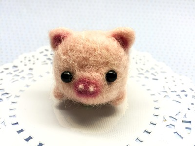 Baby Pig DIY Needle Felt Tutorial!