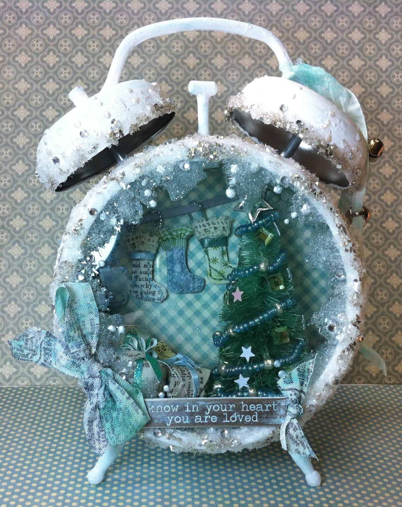 Christmas Assemblage Clock
