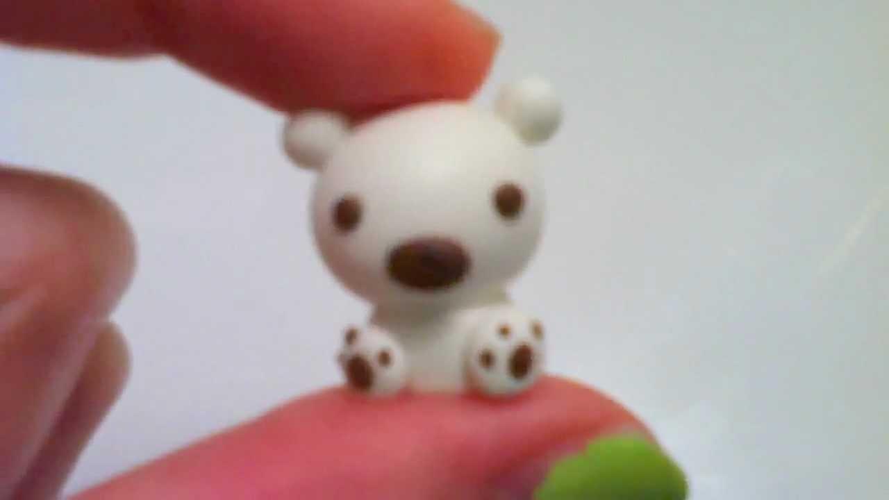 Christmas Clay Tutorial: Cute Baby Polar Bear Charm