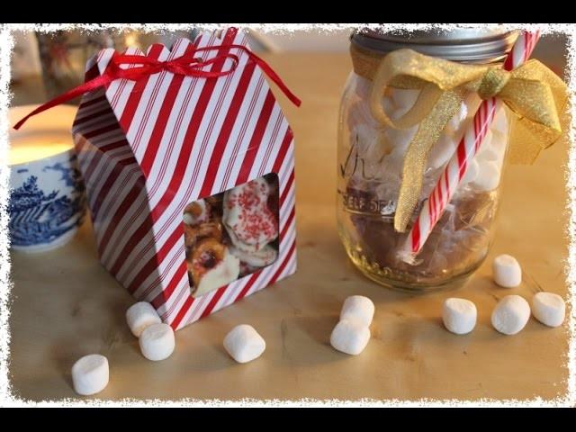Christmas DIY! Mason Jar Hot Chocolate and Chocolate Pretzels