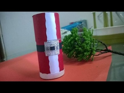 DIY Christmas Ornaments - Santa Claus Box Crafts For Kids Using Recycled Toilet Paper Rolls