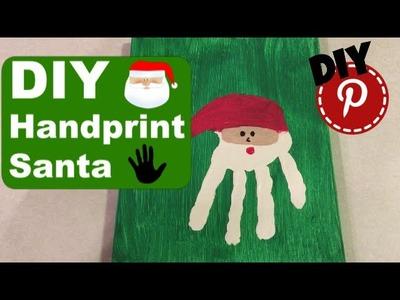 DIY Christmas - Santa Handprint - Gift Idea - Craft - Decor