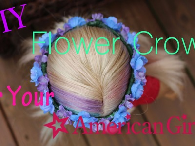 DIY Flower Crown for Your American Girl Doll!