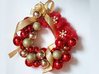 DIY - How to make Christmas wreath from Balls