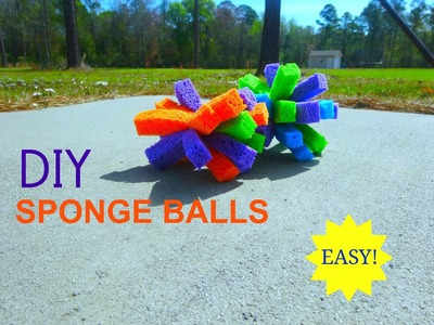 DIY Sponge Balls - Easy, Inexpensive, and Fun!
