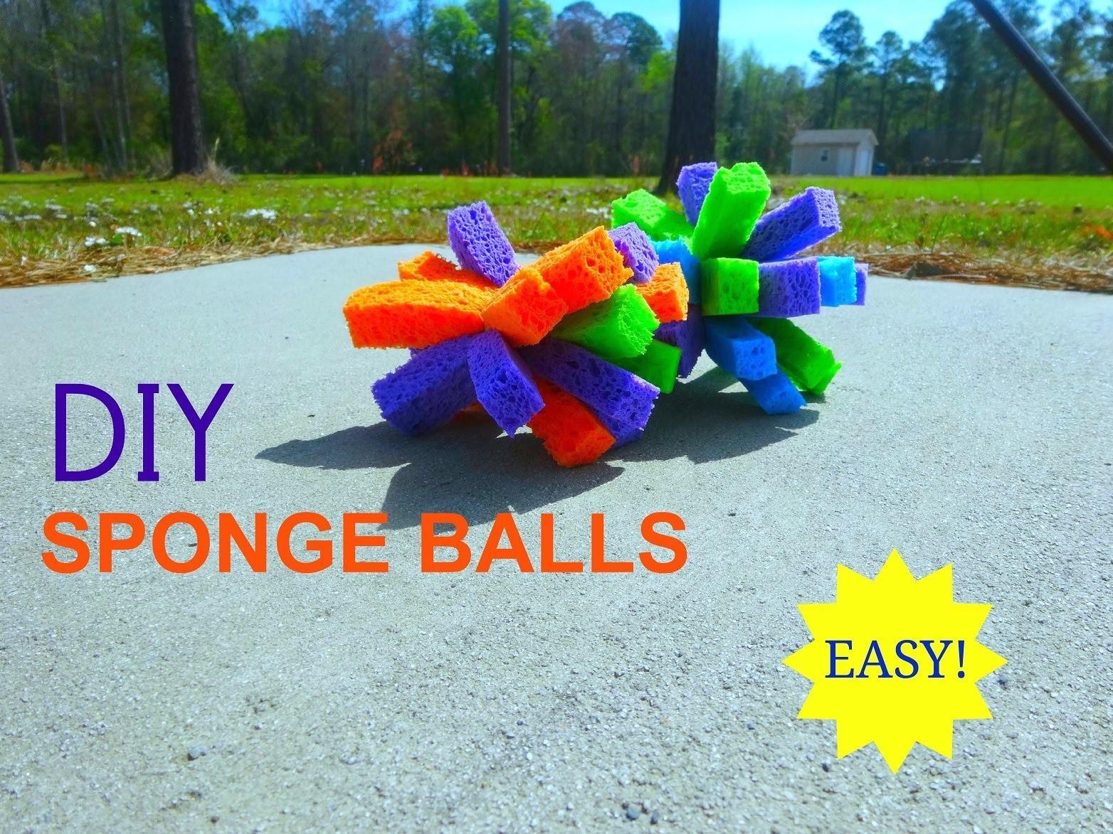 DIY Sponge Balls - Easy, Inexpensive, and Fun!
