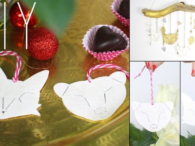 DIY - TUTO DECO DE NOEL ANIMAUX INSPIRATION IKEA PLASTIQUE DINGUE - christmas animals ornaments