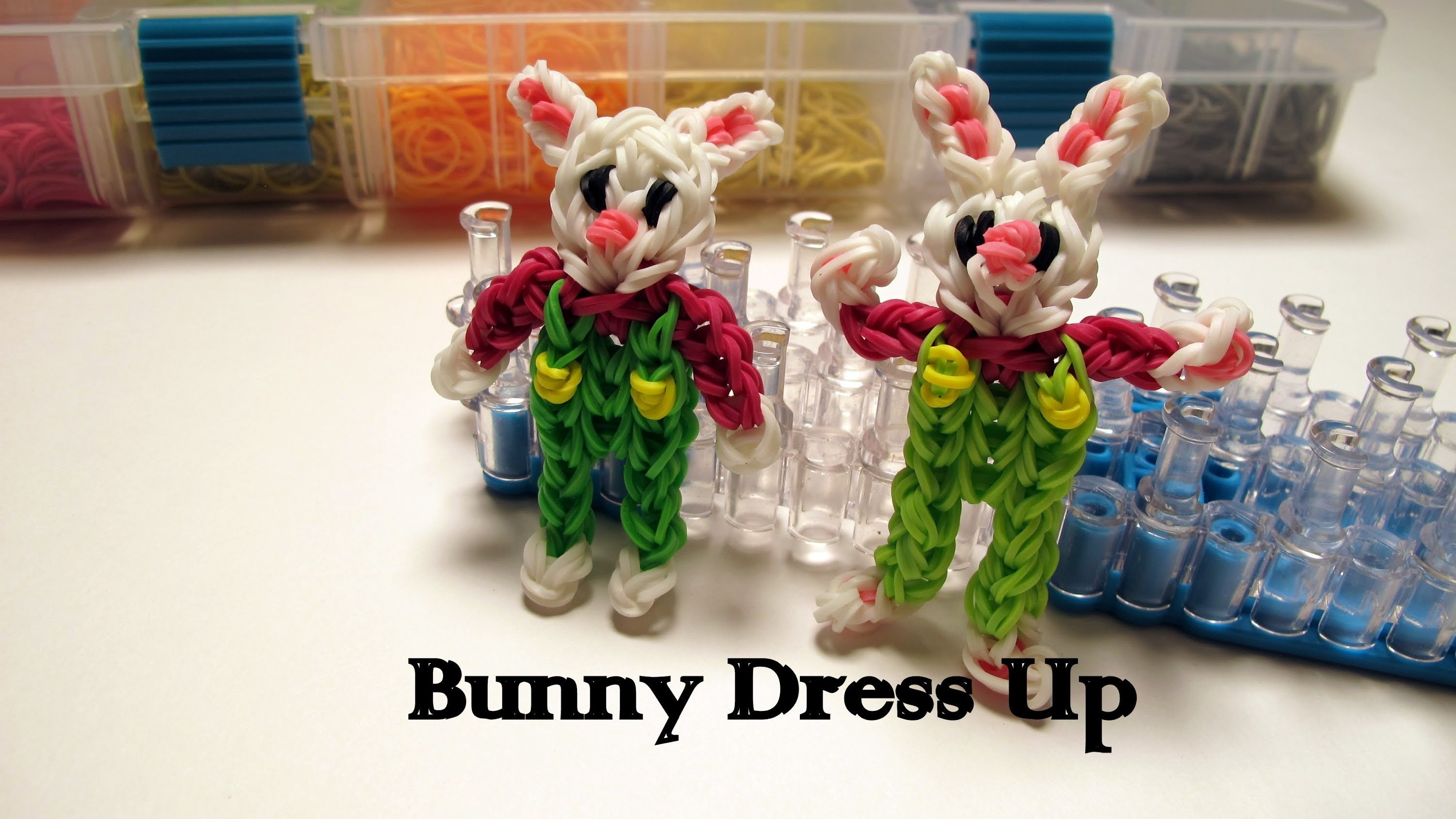 Easter Bunny Dress Up charm- How to Rainbow Loom Design -Easter Series