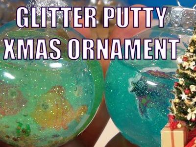 GLITTER PUTTY Slime Christmas Tree Fish Tank Ornament.  Make It Yourself DIY