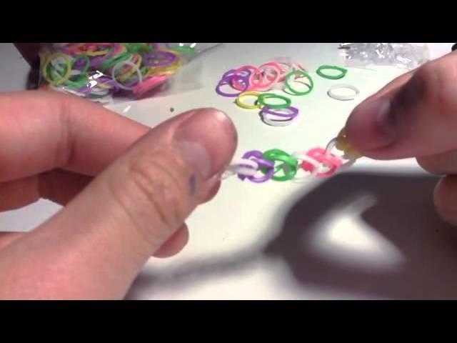 How to do a single loop Rainbow Loom®   By hand!!