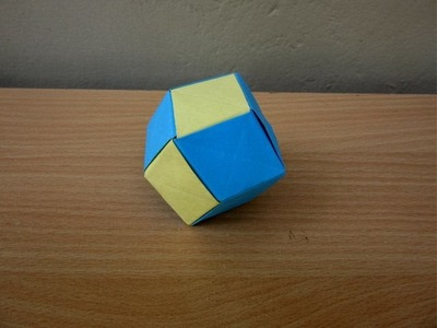 How to Make a Paper Christmas Ball (Rhombic Dodecahedron) - Easy Tutorials