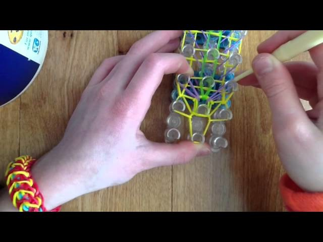 How To Make A Rainbow Loom Bracelet Called The Bird Of Paradise