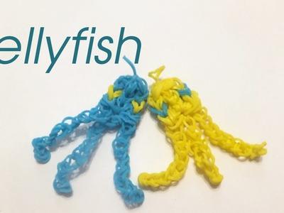 How to make a Rainbow Loom Jellyfish charm   loom bands tutorial
