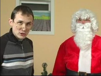 How to Make a Santa Claus Costume : How to Add Glasses to a Santa Costume