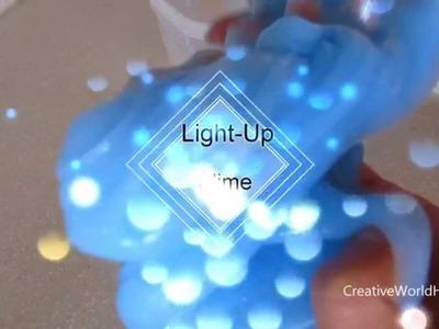 How to Make Light-Up Slime.Christmas Holiday Deco DIY by Creative World