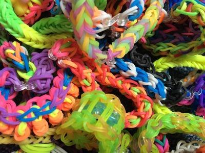 My rainbow loom bracelets collection