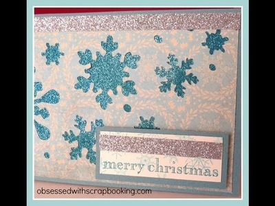 Packing Tape and Glitter Christmas Card with CTMH Artbooking Cricut Cartridge