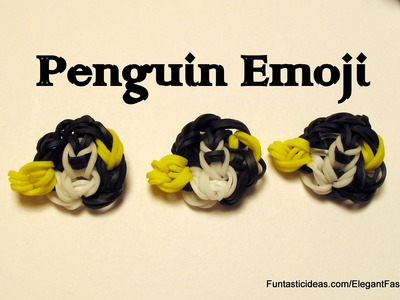 Rainbow Loom Penguin Emoji.Emoticon Charm - How to
