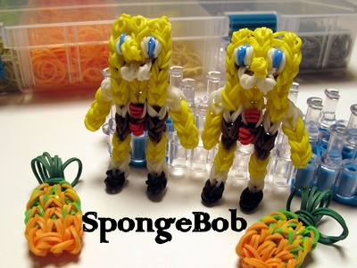 Rainbow Loom SpongeBob Charm - How to