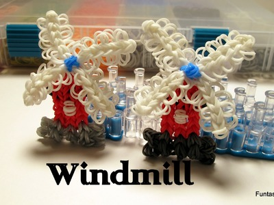 Rainbow Loom Windmill Charm - How to