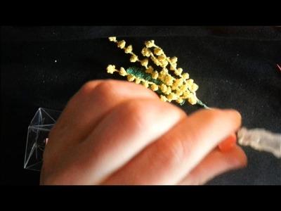Tutorial confezione mimosa all'uncinetto