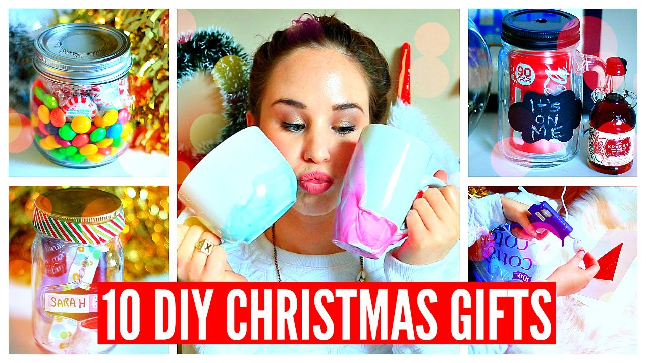 10 DIY CHRISTMAS GIFTS! Easy, Cheap, Cute!