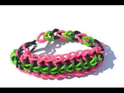 Bracelet en losange simple - Rainbow Loom france