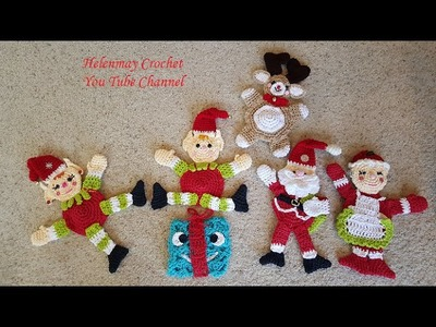 Crochet Christmas Hot Pad Potholders and kitchen towel topper DIY tutorial Part 2 of 2.