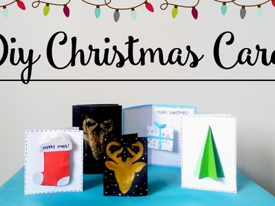 DIY Christmas Cards︱ 5 Unique + Easy Ideas