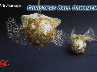 DIY Christmas Sequins ball ornament Decorations | How to make | JK Arts 793