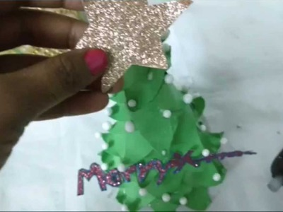 DIY Paper Christmas Tree Making.X-Mas Tree For School Kids
