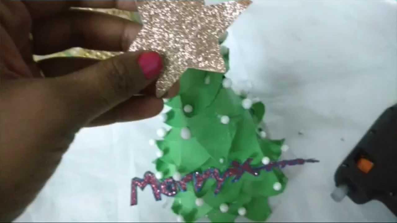 DIY Paper Christmas Tree Making.X-Mas Tree For School Kids