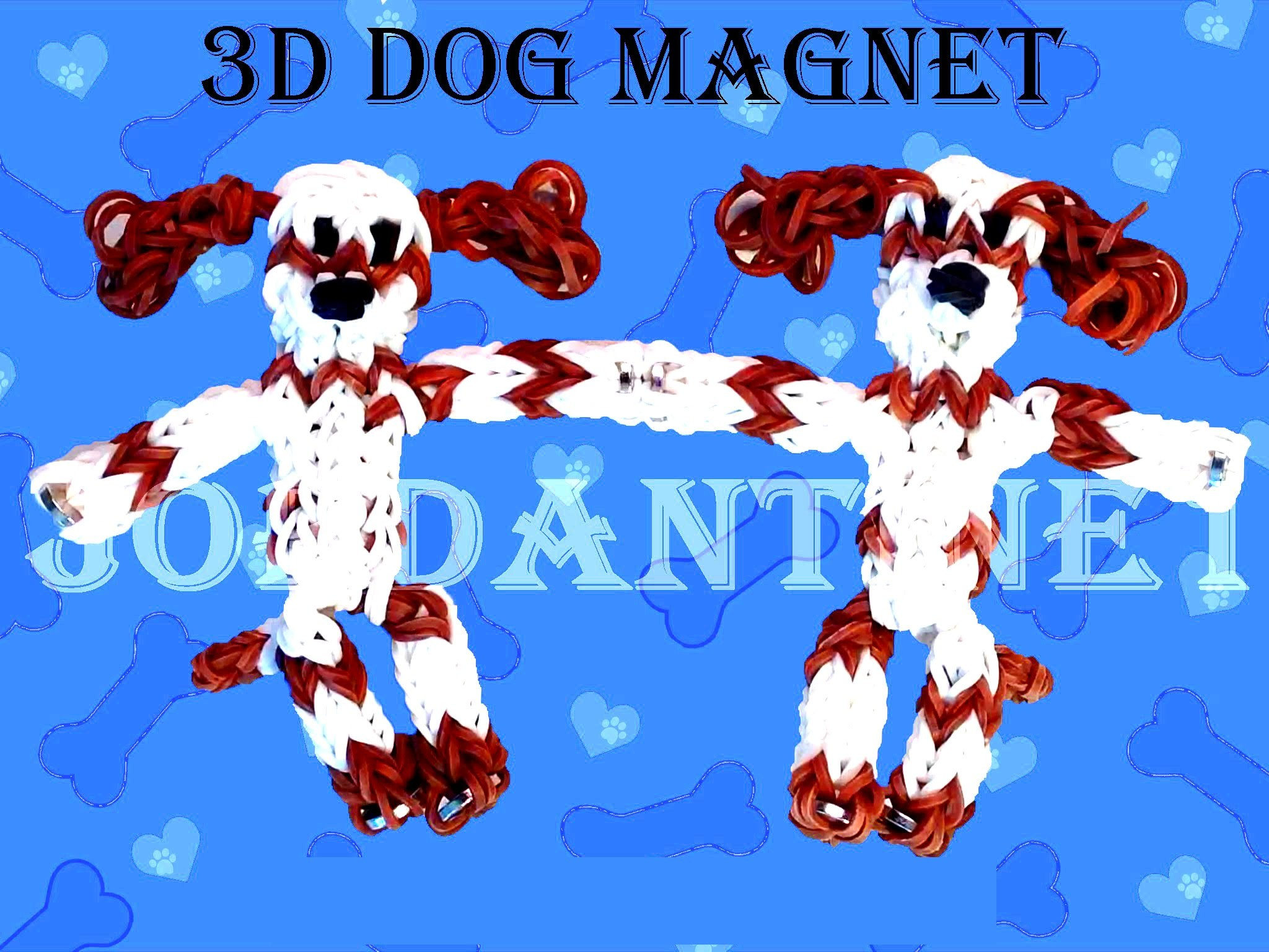 "How to Make DIY (Amigurumi) ""New 3D Puppy (Dog)"" from Rainbow Loom. On the Loom."