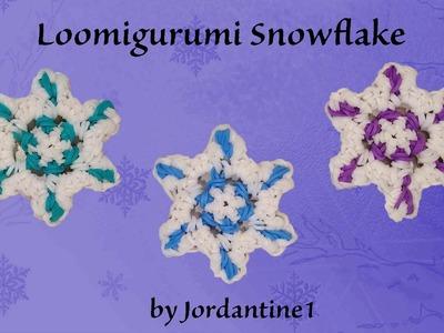 New Snowflake Charm - Loomigurumi - Christmas. Winter - Rubber Band Crochet - Rainbow Loom