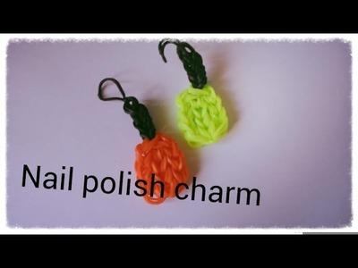 Rainbow loom nail polish charm