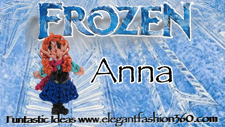 Rainbow Loom Princess Anna (Frozen) Figure.Charm - How to