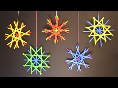 Straw Snowflakes | DIY Holiday Decor | Christmas Crafts For Kids