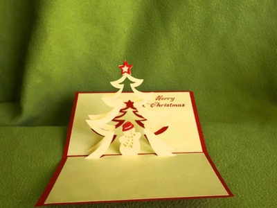 3D handmade pop-up greeting cards - Christmas