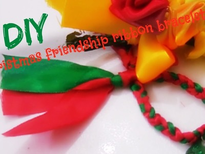 DIY : Christmas friendship ribbon band.bracelets, easy and simple to do