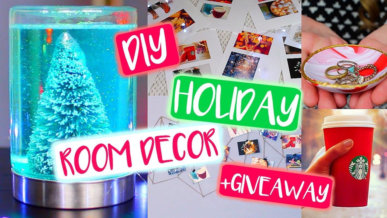 DIY Tumblr Holiday Room Decor! DIY Christmas + GIVEAWAY!