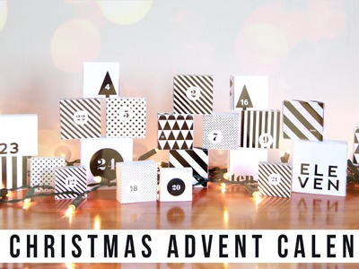 Easy DIY Christmas Advent Calendar + PRINTABLE. onceuponabeautytime
