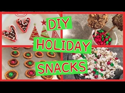 Easy DIY Christmas Treats & Holiday Party Snack Ideas! Pinterest Inspired!