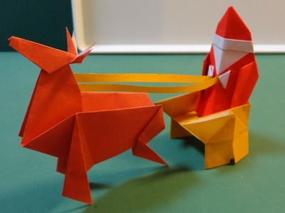 Folding Paper How to make: Christmas Santa Claus Curves Origami [Youtube]
